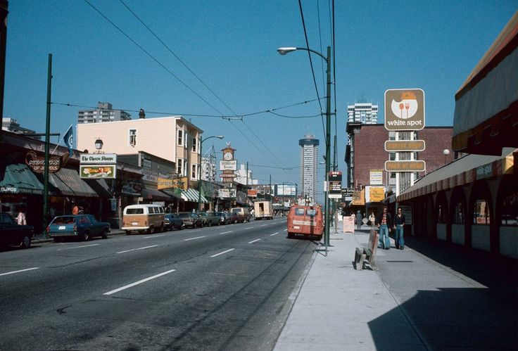 Robson Street Vancouver, 1970s