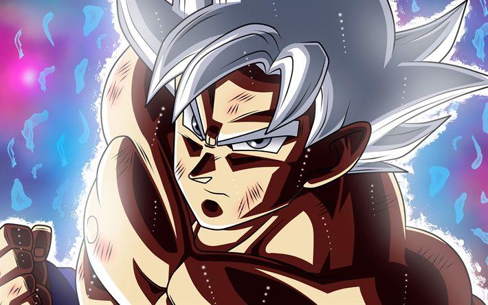 Download wallpapers Ultra Instinct Goku, Migatte No Gokui, 4k, Dragon Ball, Super Saiyan God, DBS, Goku, Dragon Ball Super