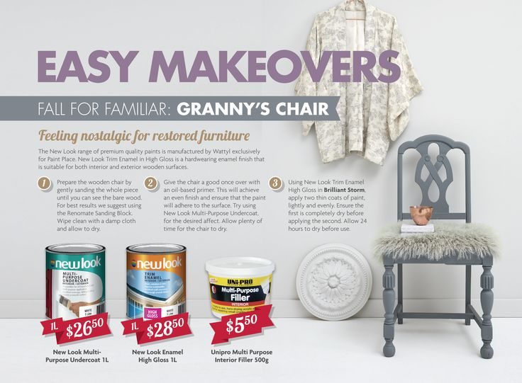 Easy Makeovers: Granny's Chair.
