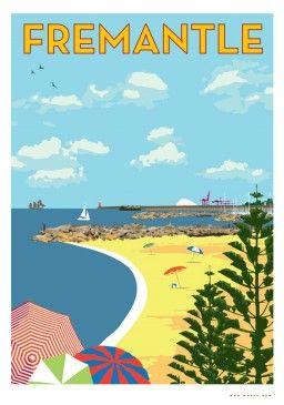 Fremantle South Beach Print, $25