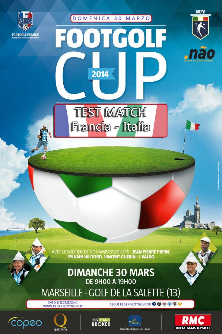 Il manifesto della FootGolf Cup 2014 - Francia vs. Italia