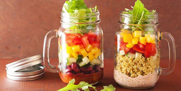 Ensaladas en frascos: una tendencia que facilita la alimentación saludable