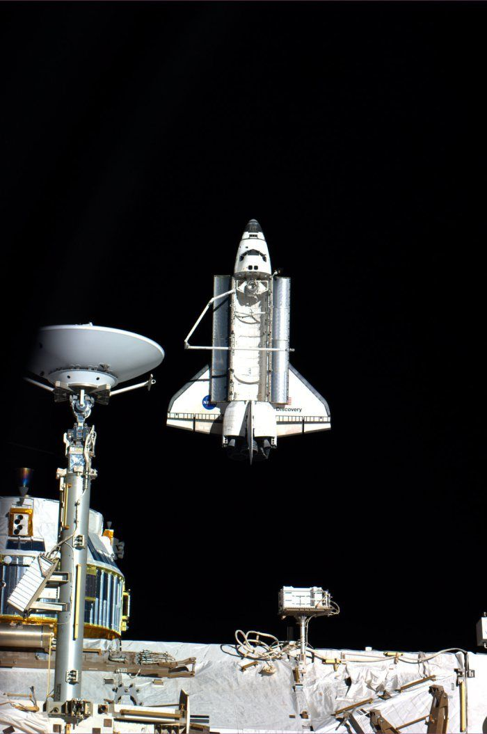 || Space Shuttle Discovery from the International Space Station.