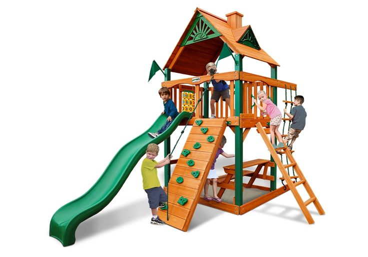 Chateau Tower | Gorilla playsets, Wooden playset, Canvas ...