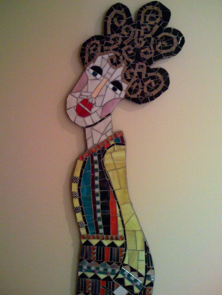 """""""Big Hair, Crazy Clothes"""" my original mosaic artwork"""