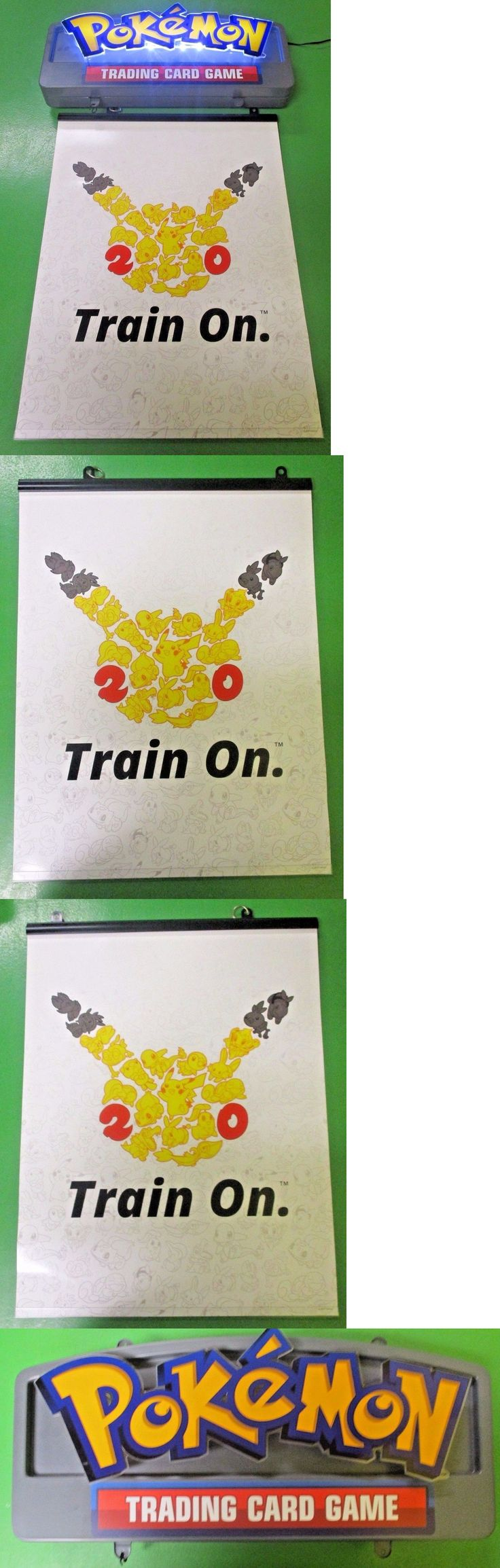 Other Pok mon TCG Items 2608: Pokemon Trading Card Game Train On Light Up Neon Retailer Sign -> BUY IT NOW ONLY: $199.99 on eBay!