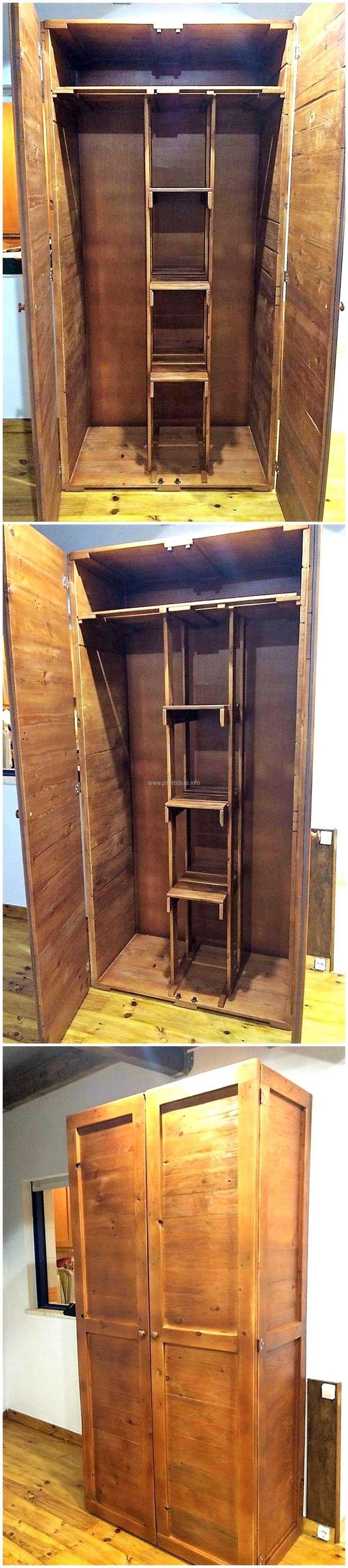 pallet wooden closet 1124 best Pallets images