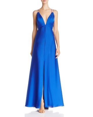 Aidan Mattox Plunge Neck Gown | Bloomingdale's Southcoast