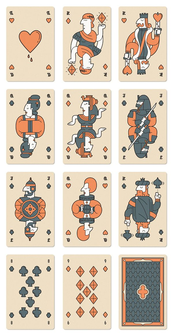 Histories – Playing Cards by Mark Eastwood, via Behance