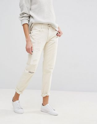 Узкие джинсы бойфренда с прорехами и заплатками Polo Ralph Lauren