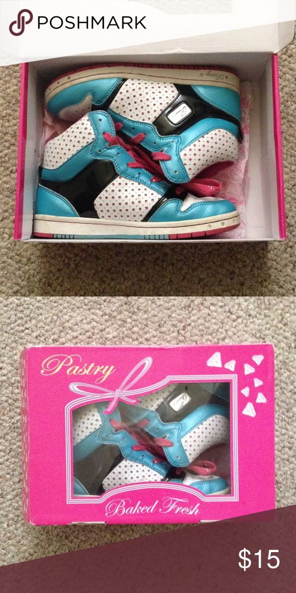 Pastry sneakers Designed in 2007 by daughters of Joseph Simmons (from RUN DMC). Pastry's America's #1 Dance Sneaker for professional and university dance teams. Can fit a women's size 6 Nike Shoes Sneakers