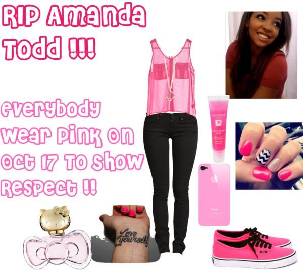 """""""RIP Amanda Todd"""" by xoxo-tete-xoxo ❤ liked on Polyvore"""