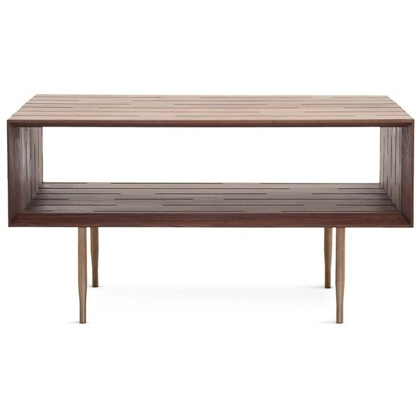 Matthew Hilton Horizon medium coffee table (8,700 SAR) ❤ liked on Polyvore featuring home, furniture, tables, accent tables, contemporary modern coffee tables, storage furniture, storage table, home storage furniture and contemporary storage furniture