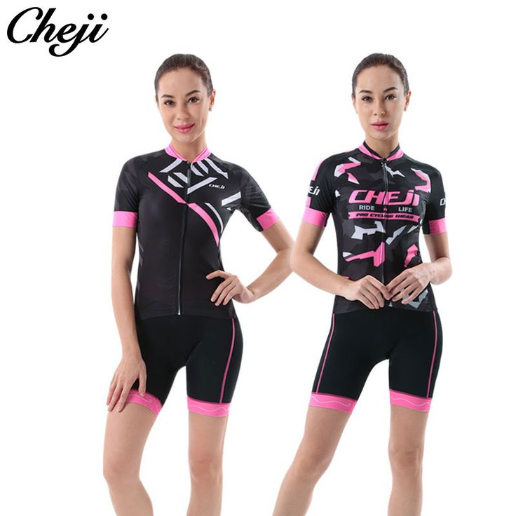 CHEJI Breathable Bike Jersey Short Set Cheap Ladies Cycling Wear Jersey Ciclismo 2017 S-XXL Pro Team Cycling Clothing Women. Yesterday's price: US $32.84 (27.04 EUR). Today's price: US $16.42 (13.55 EUR). Discount: 50%.