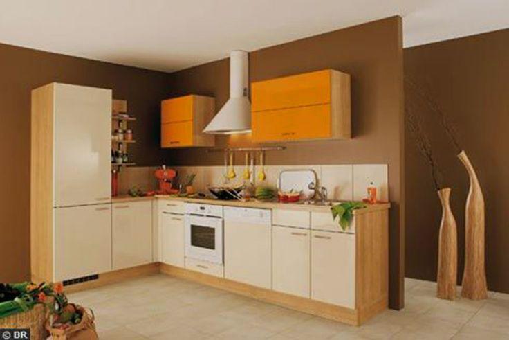 Orange Kitchen furniture design