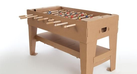 """""""Kartoni"""" table for tabletop soccer entirely made of #cardboard"""