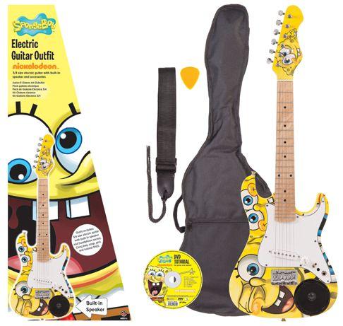 SpongeBob SquarePants: 3/4-size Electric Guitar Pack. £135.00
