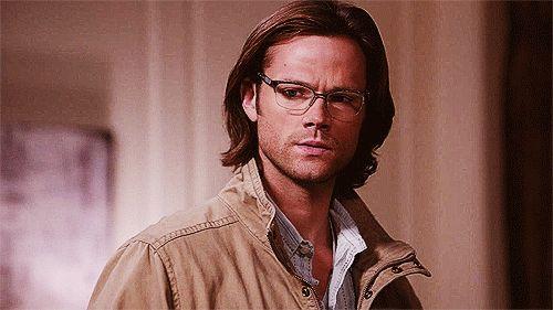 "(gif) Sam in Glasses ||| Supernatural 8x14 ""Trial and Error"""
