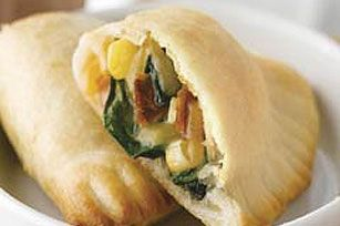 Cheesy Spinach and Bacon Empanadas recipe