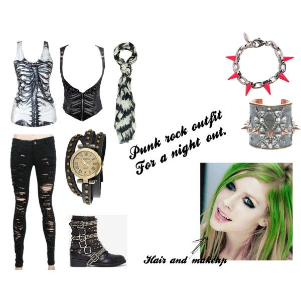 Punk rock outfit for a night out