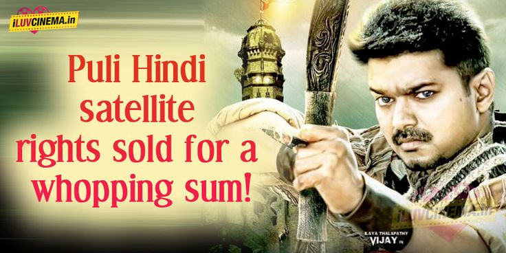 Vijay's Puli Hindi satellite rights sold for a whopping sum! - http://www.iluvcinema.in/tamil/vijays-puli-hindi-satellite-rights-sold-for-a-whopping-sum/
