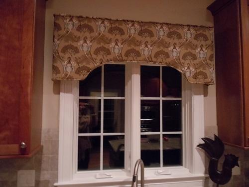 Custom Cornice Board For Kitchen Window Kitchen Redesign