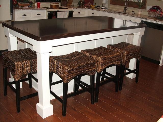 extending kitchen, island seating