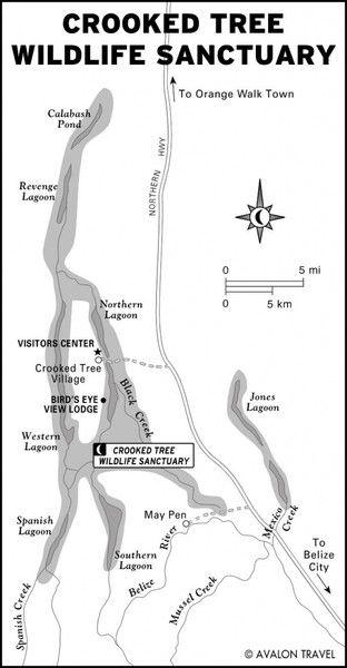 Crooked Tree Wildlife Sanctuary Map