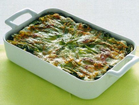 lasagne con zucchine e fiori Sale&Pepe ricetta