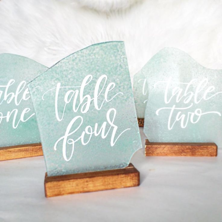 Sea Glass Table Numbers • Beach Wedding with Sea Glass Place Cards  by @foxandsparrowdesign