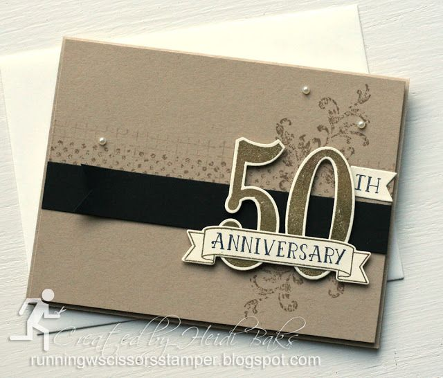 Stampin' Up Number of Years, Timeless Textures by #RunningwScissorsStamper