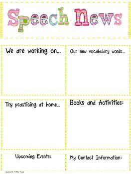 Speech & Language Newsletters!
