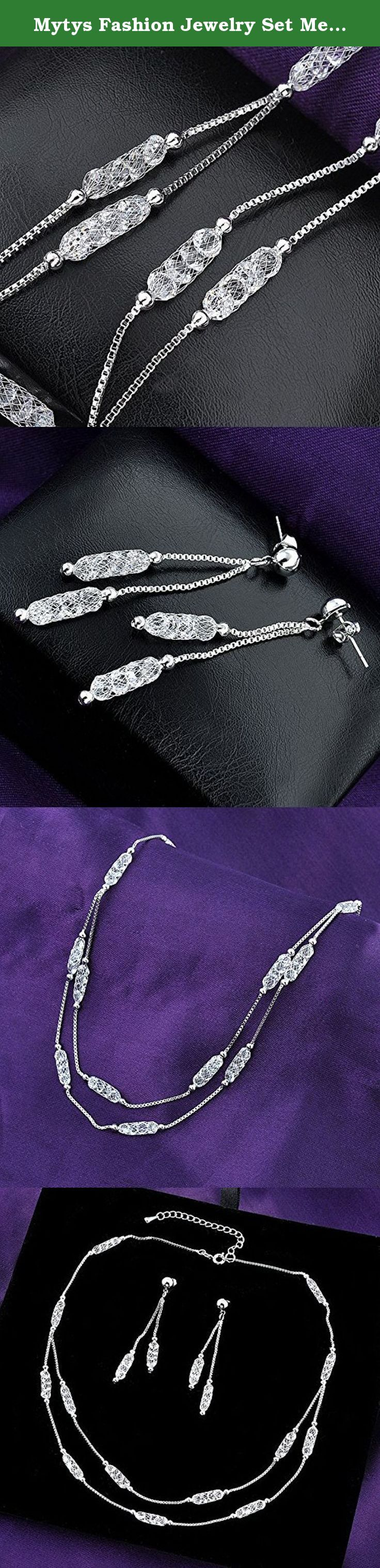 Mytys Fashion Jewelry Set Mesh Crystal Necklace and Tassel Drop Earring Silver Jewelry Set. Condition: 100% Brand New and High Quality Metal: alloy Why choose us? Well-established Fashion Jewelry Maker, Shenzhen Sunrising Trade Co., Ltd. is located in Luohu district of Shenzhen city, is a professional and experienced wholesaler engaged in design and production fashion jewellery, such as rings, earrings, necklaces, bracelets, brooches, jewelry sets, etc. The company's well-equipped…