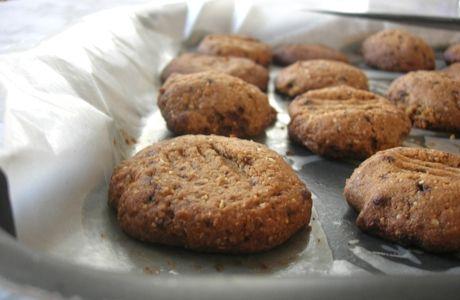 Cookies integrais de castanha-de-caju
