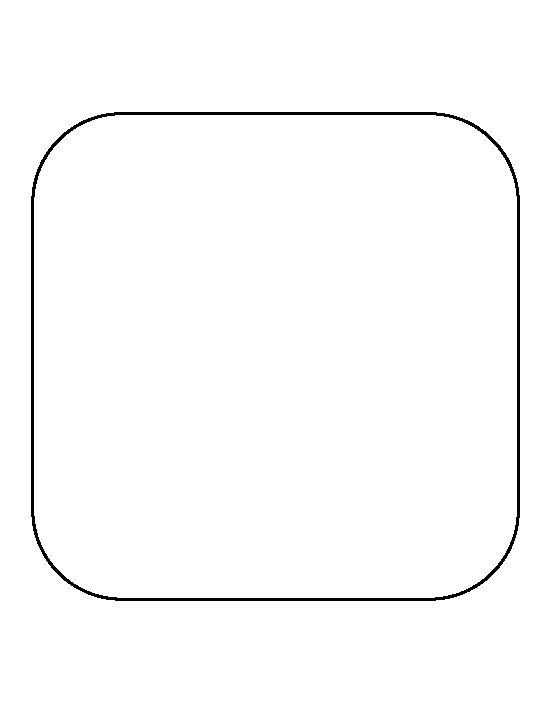 rounded box outline. rounded square pattern use the printable outline for crafts creating stencils scrapbooking box