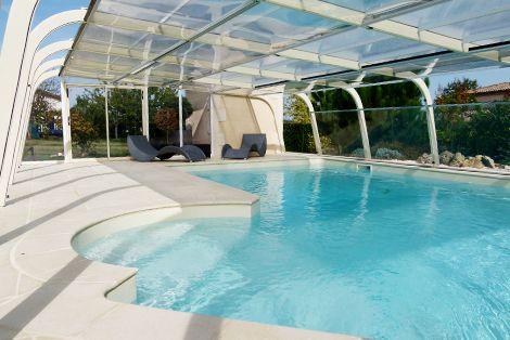 Votre piscine en sécurité que l'abri fixe soit ouvert ou fermé !