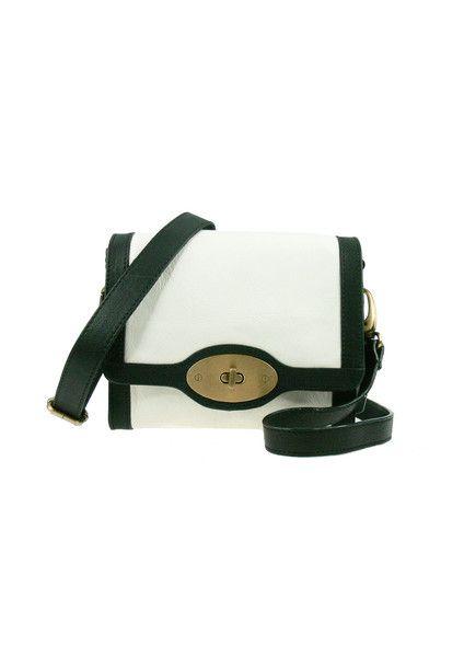 Shopper Shoulder Leather Bag - Black / Ivory $199.95 #leethal #accessories #fashion