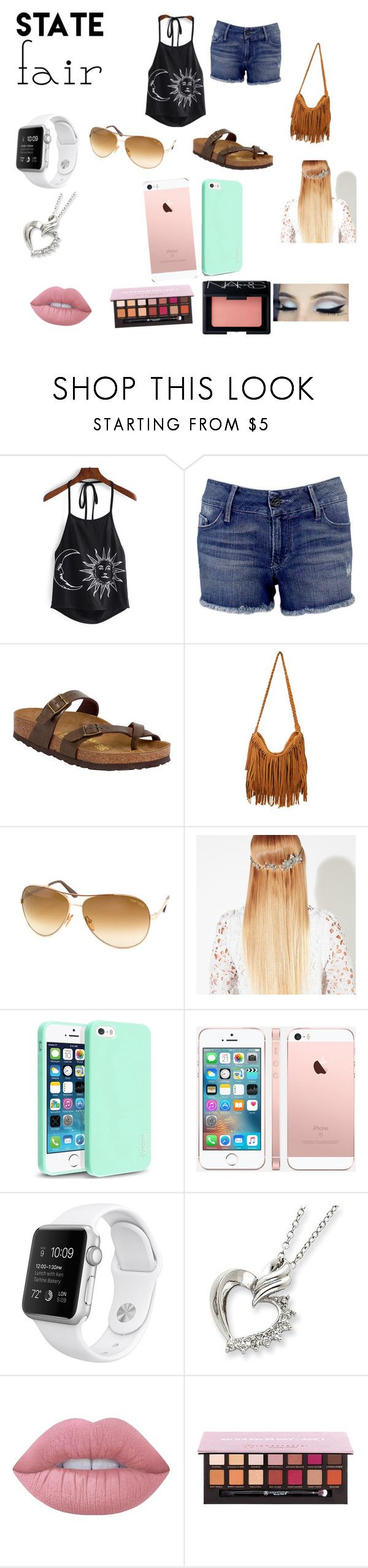 """State fair outfit"" by my-clothing-creations ❤ liked on Polyvore featuring Black Orchid, Birkenstock, Tom Ford, John Lewis, Insten, Lime Crime, Anastasia Beverly Hills, NARS Cosmetics, statefair and summerdate"