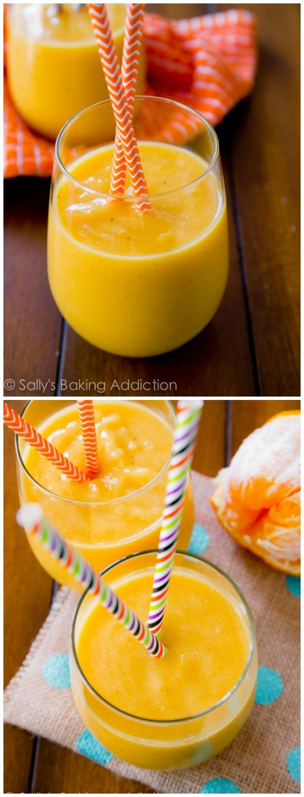 My favorite smoothie recipe - creamy, fruity, and quick! Only 5 easy ingredients.