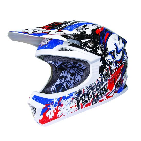 Casque cross Freegun XP-4 US bleu blanc rouge 2015 - Protection motocross Freegun