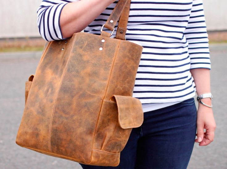 Get set this season with a new brown tote bag.  This classic handbag will be wonderful for you warmer month activities, it's comfortable to carry and holds all you need for a day out. #vintage #leatherbag #giftsforher #workgifts