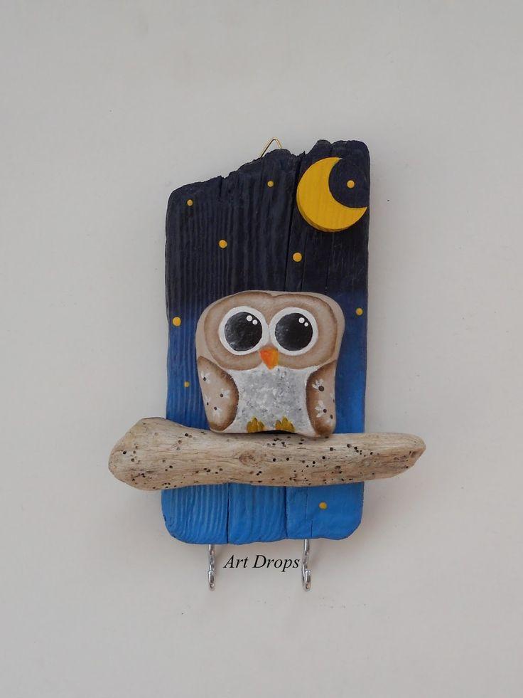 Art Drops: rocks and driftwood