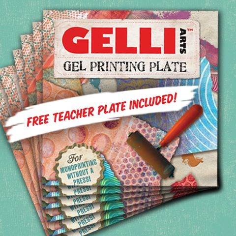 Classroom kit 6in x 6in gel printing plate techniques for Cricket printing machine craft supplies