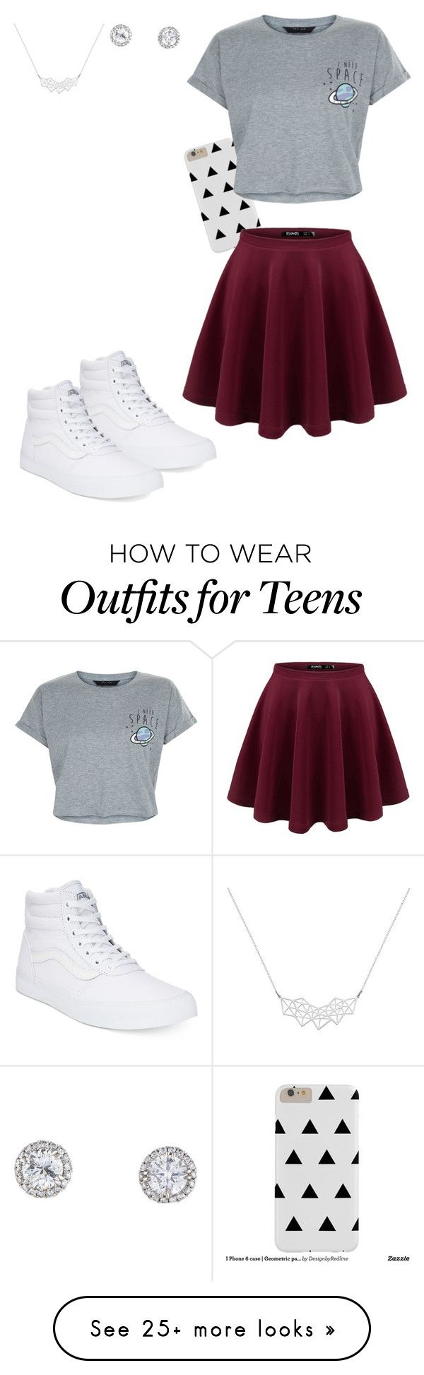 """""""cute school day"""" by audrey-baller on Polyvore featuring Vans and New Look"""