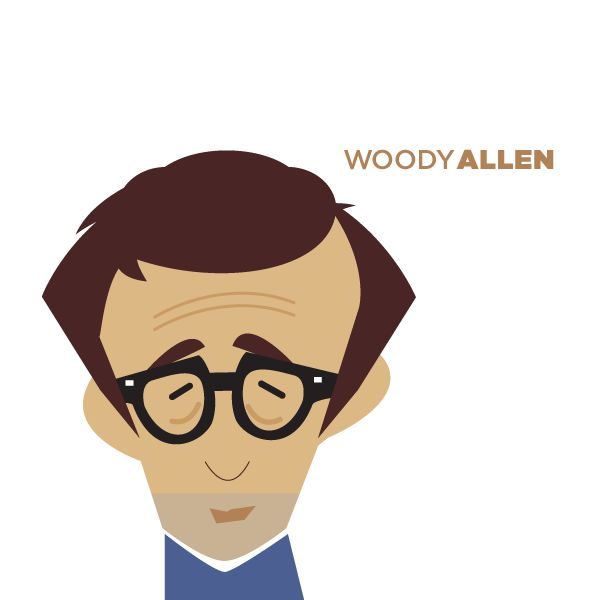 Minimalistic portraits by Jag Nagra: Caricature, Woodyallen, Portrait Illustration, Art, Woody Allen, Minimalistic Portrait, Jan Nagra, Nagra S Woody