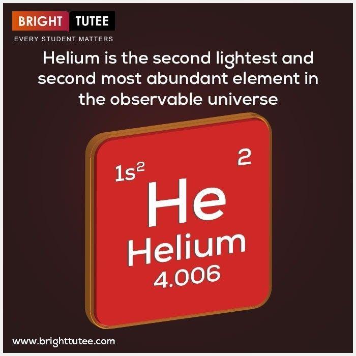 Helium Ist Das Zweitleichteste Und Zweithaufigste Element Im Beobachtbaren Brighttutee Com Beobachtbaren Brighttuteecom Das El Elemente Universum