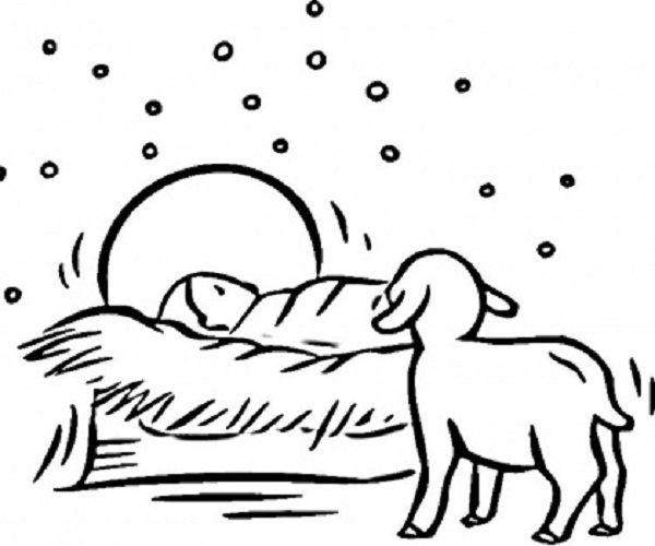 Printable Nativity Animals | printable nativity coloring pages coloring pages nativity scene free ...