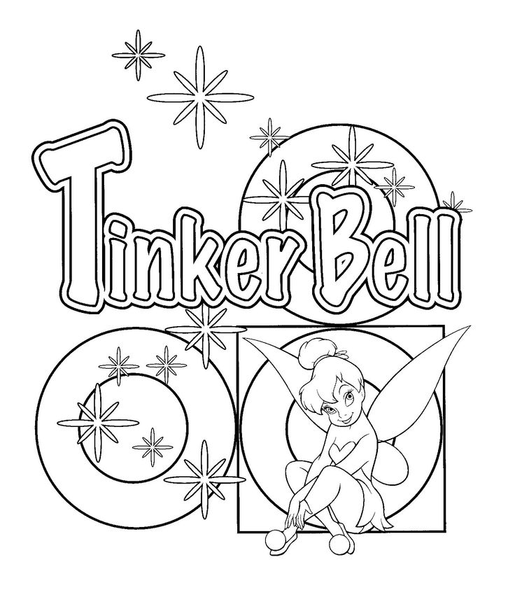 90 best TINKERBELL COLORING PAGES images on Pinterest Adult