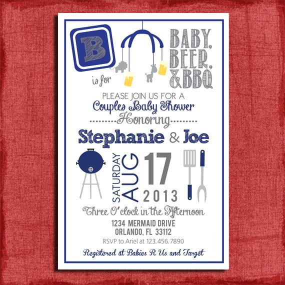 Couples Bbq Baby Shower: 17 Best Baby Q Invitations Images On Pinterest