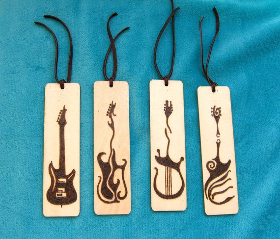 Wood Burned Bookmark Set Handmade Pyrography by OmMadeJewelry